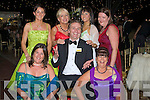 ..ENJOYABALE:Emer Cunningham (San Francisco), Alexis Hodel (Arizona Rose) and Annie Dunn(Ohio Rose) have a great timne at the Rose of Tralee TRose Ball on Friday night.. ....