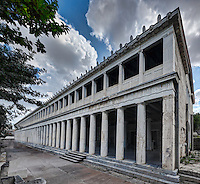 The Stoa of Attalos (159 B.C.) in the Ancient Athenian Agora, Greece