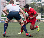 USA vs Tonga during the Day 3 of the IRB Junior World Rugby Trophy 2014 at the Hong Kong Football Club on April 15, 2014 in Hong Kong, China. Photo by Xaume Olleros / Power Sport Images