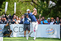 Dustin Johnson (USA) watches his tee shot on 6 during round 4 of the World Golf Championships, Mexico, Club De Golf Chapultepec, Mexico City, Mexico. 3/5/2017.<br /> Picture: Golffile | Ken Murray<br /> <br /> <br /> All photo usage must carry mandatory copyright credit (&copy; Golffile | Ken Murray)