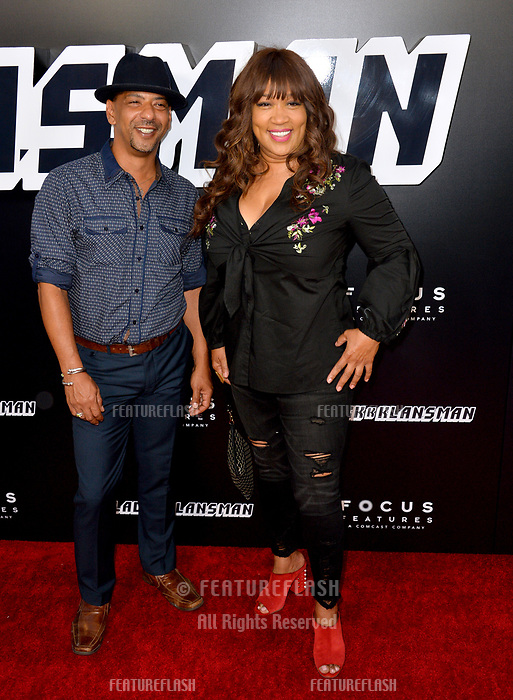 "Kym Whitley & Guest at the Los Angeles premiere of ""BlacKkKlansman"" at the Academy's Samuel Goldwyn Theatre, Beverly Hills, USA 08 Aug. 2018<br /> Picture: Paul Smith/Featureflash/SilverHub 0208 004 5359 sales@silverhubmedia.com"