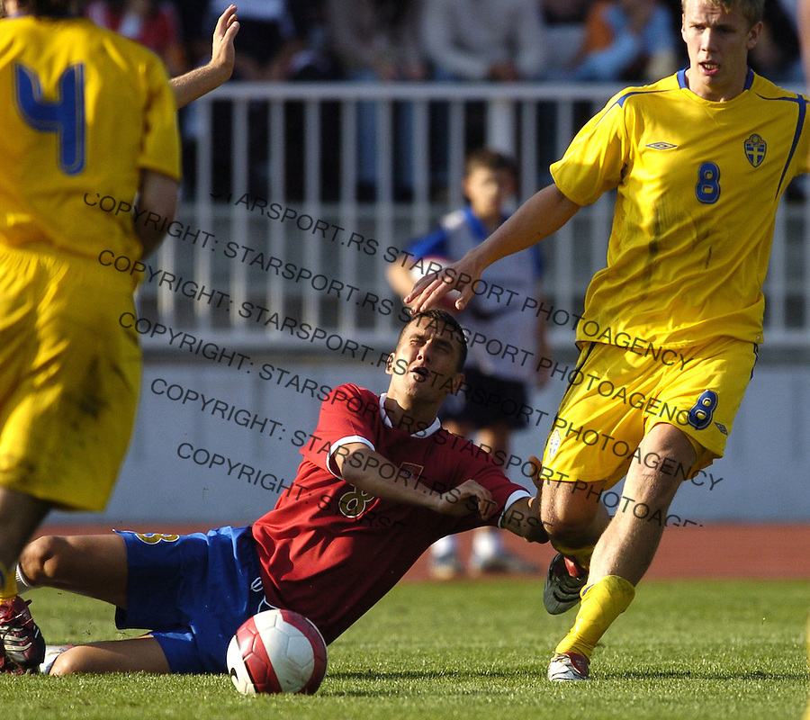 SPORT FUDBAL SRBIJA SVEDSKA REPREZENTACIJA SOCCER FOOTBALL U21 MLADI NOVI SAD  Bosko Jankovic 6.10.2006. photo: Pedja Milosavljevic<br />
