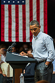 United States President Barack Obama speaks to supporters at the Bridgeport Arts Center in Chicago, Illinois during a fundraising event celebrating his birthday, August 12, 2012..Credit: Ralf-Finn Hestoft / Pool via CNP
