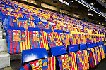 Empty chairs at the Camp Nou stadium prior to the Copa del Rey 2016-17 Semi-final match between FC Barcelona and Atletico de Madrid on 07 February 2017 in Barcelona, Spain. Photo by Diego Gonzalez Souto / Power Sport Images