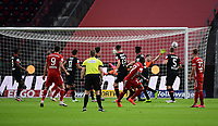 David Alaba (FC Bayern Muenchen) Goal scored, erziehlt das Tor zum 0:1, Lukas Hradecky (Bayer Leverkusen) ohne Chance<br /> - 04.07.2020, Fussball DFB Pokal Finale, Bayer 04 Leverkusen - FC Bayern Muenchen emspor, v.l. <br /> <br /> Foto: Kevin Voigt/Jan Huebner/Pool/Marc Schueler/Sportpics.de<br /> <br /> (DFL/DFB REGULATIONS PROHIBIT ANY USE OF PHOTOGRAPHS as IMAGE SEQUENCES and/or QUASI-VIDEO - Editorial Use ONLY, National and International News Agencies OUT)