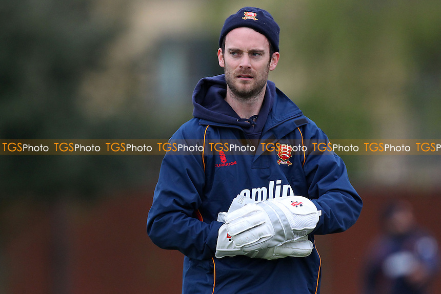 Jmes Foster of Essex during nets practice ahead of Day One - Cambridge MCCU vs Essex CCC - Pre-Season Friendly Cricket Match at Fenners Ground, Cambridge - 07/04/14 - MANDATORY CREDIT: Gavin Ellis/TGSPHOTO - Self billing applies where appropriate - 0845 094 6026 - contact@tgsphoto.co.uk - NO UNPAID USE