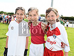 Jessie Behan, Jessica Moran and Ashley Geraghty at the Duleek Bellewstown GFC family funday. Photo:Colin Bell/pressphotos.ie