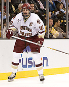 Brian Boyle (Boston College - Hingham, MA) - The Boston College Eagles defeated the Harvard University Crimson 3-1 in the first round of the 2007 Beanpot Tournament on Monday, February 5, 2007, at the TD Banknorth Garden in Boston, Massachusetts.  The first Beanpot Tournament was played in December 1952 with the scheduling moved to the first two Mondays of February in its sixth year.  The tournament is played between Boston College, Boston University, Harvard University and Northeastern University with the first round matchups alternating each year.