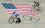 September 17, 2015 - Colorado Springs, Colorado, U.S. - Women match sprint cyclists play a game of cat and mouse during the USA Cycling Collegiate Track National Championships, United States Olympic Training Center Velodrome, Colorado Springs, Colorado.