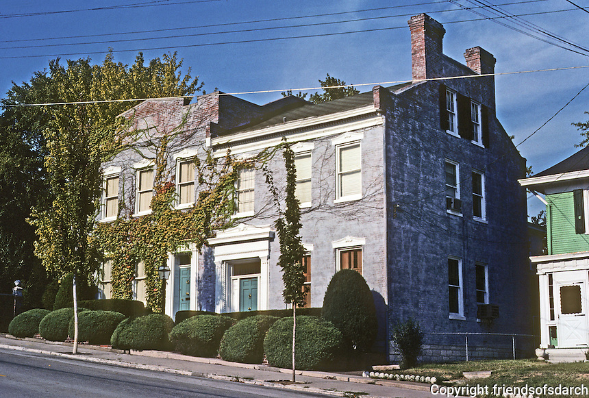 Alton: 607 State St., evidently 1850's. Peter Wise House on right. Photo '77.