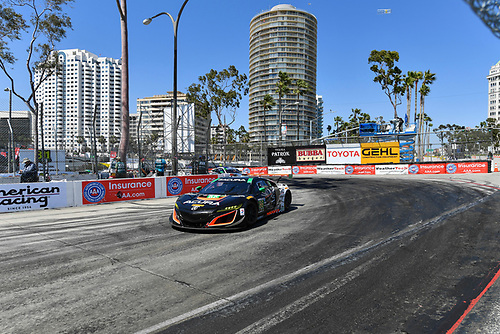 2017 IMSA WeatherTech SportsCar Championship<br /> BUBBA burger Sports Car Grand Prix at Long Beach<br /> Streets of Long Beach, CA USA<br /> Saturday 8 April 2017<br /> 86, Acura, Acura NSX, GTD, Oswaldo Negri Jr., Jeff Segal<br /> World Copyright: Richard Dole/LAT Images<br /> ref: Digital Image RD_LB17_332