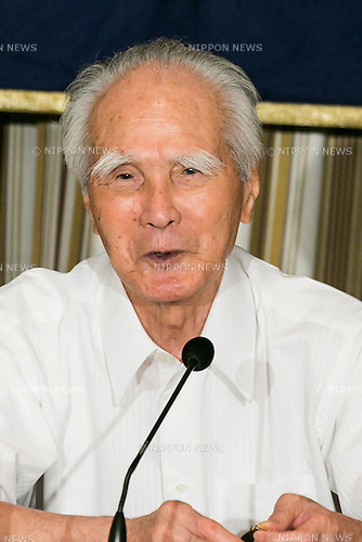 Tomiichi Murayama, former Prime Minister of Japan, speaks during a press conference at the Foreign Correspondents' Club of Japan on July 29, 2015, Tokyo, Japan. Muyarama, who was Prime Minister from 1994 to 1996 gave a speech marking 50 years since the end of World War II in 1995. At that time he apologized for Japan's actions during the War and said that the country must ''eliminate self-righteous nationalism.'' Next month, current Japanese Prime Minister Shinzo Abe is set to make a statement to mark the 70th anniversary of the end of the War and to express gratitude to the international community for accepting Japan after the war. The prime minister is also expected to express remorse for Japan's actions in the upcoming statement although the exact language has not yet been released. (Photo by Rodrigo Reyes Marin/AFLO)