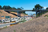 Sepulveda pass, l-405 Freeway, Mulholland Bridge,  Widening Project, Los Angeles, CA