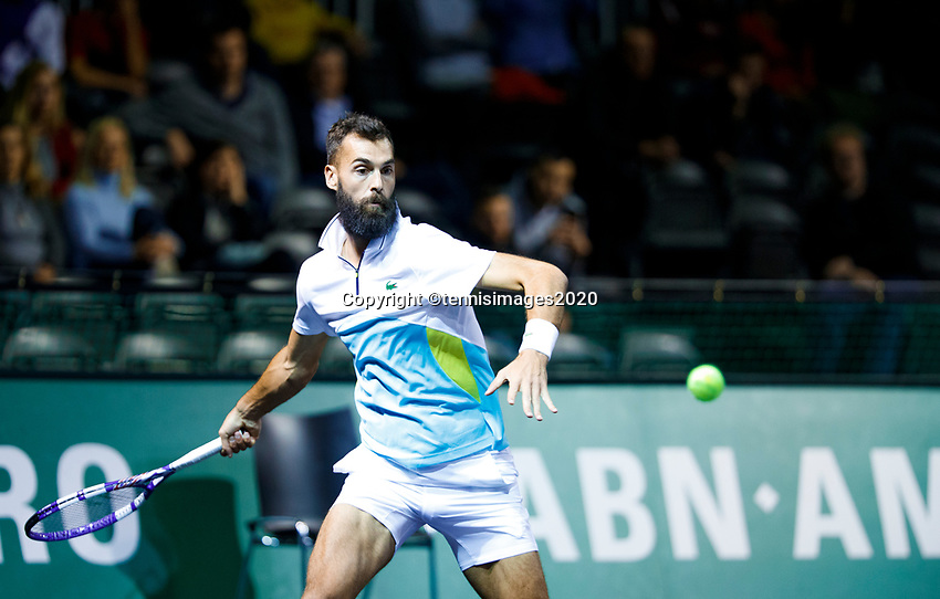 Rotterdam, The Netherlands, 11 Februari 2020, ABNAMRO World Tennis Tournament, Ahoy, <br /> Aljaz Bedene (SLO), Benoit Paire (FRA).<br /> Photo: www.tennisimages.com