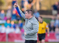 Boyds, MD - April 16, 2016: Boston Breakers head coach Matt Beard. The Washington Spirit defeated the Boston Breakers 1-0 during their National Women's Soccer League (NWSL) match at the Maryland SoccerPlex.