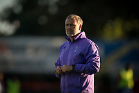 Spurs Under 23 manager Wayne Burnett during the Premier League 2 match between Chelsea U23 and Tottenham Hotspur U23 at the Electrical Services Stadium, Aldershot, England on 30 August 2019. Photo by Andy Rowland.