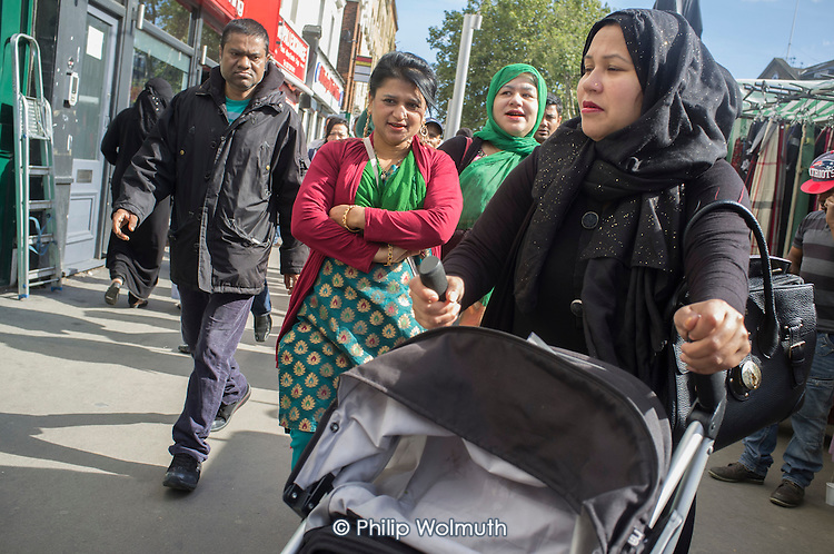 Whitechapel market in east London serves the largest Muslim community in the UK