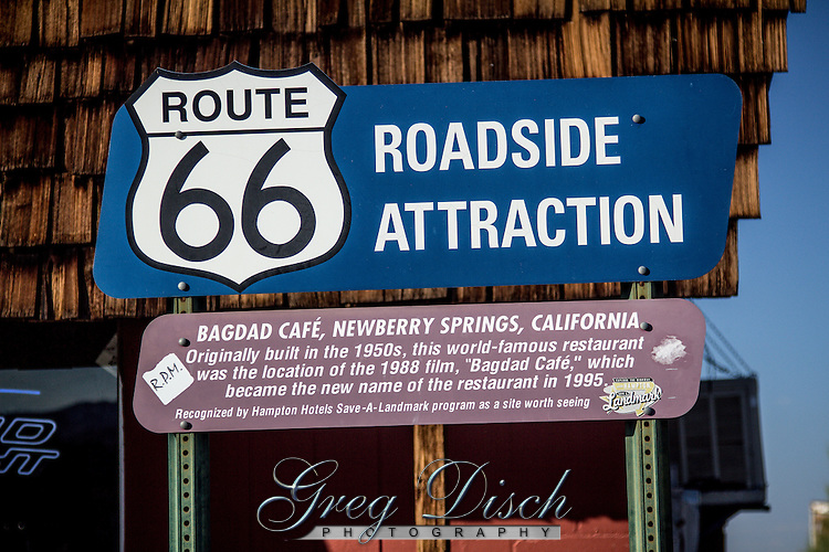 """The Bagdad Cafe in Newberry Springs California on Route 66.  Previously known as the Sidewinder Cafe, the owners changed the name after the movie """"Bagdad Cafe"""" was filmed at the location."""