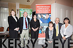 At the First-Step Microfinance Talk held in The Ring of Kerry Hotel Cahersiveen were l-r; Ann O'Riordan(Enterprise Officer), John Pierce(CEO SKDP), Audrey Rigley-Smyth((First-Step Microfinance), Bridie Buckley(IES Coordinator), Donal O'Shea(Dev. Officer Clare Is Co Mayo) & Catherine Evans(RTP Manager).