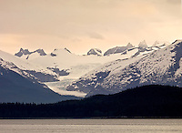 Sunset on Mendenhall Glacier