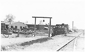 View looking southeast from NMC / D&amp;RG joint yard.<br /> NMC / D&amp;RG  Santa Fe, NM  ca 1928