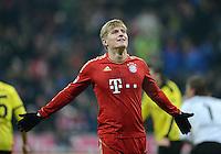 FUSSBALL   1. BUNDESLIGA  SAISON 2012/2013   15. Spieltag FC Bayern Muenchen - Borussia Dortmund     01.12.2012 Toni Kroos (FC Bayern Muenchen) emotional