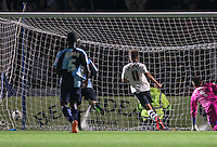 Alex Kacaniklic of Fulham scores the winning goal during the Capital One Cup match between Wycombe Wanderers and Fulham at Adams Park, High Wycombe, England on 11 August 2015. Photo by Andy Rowland.