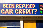 'Been Refused car Credit?' advertising sign Portsmouth