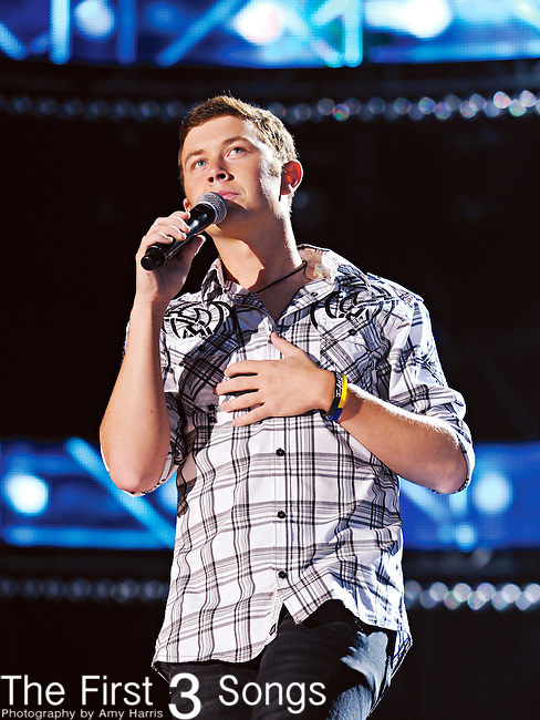 Scotty McCreery performs at LP Field during the 2012 CMA Music Festival on June 10, 2011 in Nashville, Tennessee.