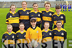 The Glenbeigh National School Team under 12 team Primary Schools Football Finals at Austin Stack park on Thursday, front from left: Shauna Sheehan, Eireann Blunt, Yvonne O'Shea, Rachel Sheahan and Laura Sheahan. Back row from left: Emma Sheahan, Cliodhna Coffey, Danika O'Grady, Kate Conway, Stephenie Sheahan.
