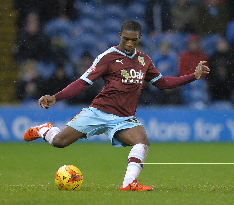 Burnley's Tendayi Darikwa<br /> <br /> Photographer Dave Howarth/CameraSport<br /> <br /> Football - The Football League Sky Bet Championship - Burnley v Preston North End - Saturday 5th December 2015 - Turf Moor - Burnley<br /> <br /> &copy; CameraSport - 43 Linden Ave. Countesthorpe. Leicester. England. LE8 5PG - Tel: +44 (0) 116 277 4147 - admin@camerasport.com - www.camerasport.com