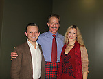 Guiding Light and Another World's David Andrew MacDonald stars in Charlie's Aunt and poses with his wife Monette on opening night of the play wearing the Tartan - Macdonald of Glenaledale on October 27, 2018 at the Shakespeare Theatre of New Jersey. It runs through November 18, 2018. David and Monette pose with Seamus Mulcany who is also in play. (Photo by Sue Coflin/Max Photo)