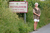 Julie Brenan has written a letter about the quality of care she end her husband have received from the NHS. Bethlehem village, Carmarthenshire, Wales, UK