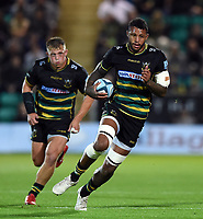Courtney Lawes of Northampton Saints in possession. Gallagher Premiership match, between Northampton Saints and Harlequins on September 7, 2018 at Franklin's Gardens in Northampton, England. Photo by: Patrick Khachfe / JMP
