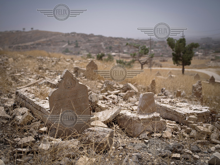 Mauia Yazidi Temple in the Sinjar mountains, destroyed by ISIS.
