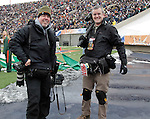 Al Diaz and Matt Cashore decked out with the Modular Component Belt System at the University of Miami Hurricanes vs Notre Dame game in the 77th Hyundai Sun Bowl Game in El Paso, Texas on December 31, 2010.    www.mattcashore.com