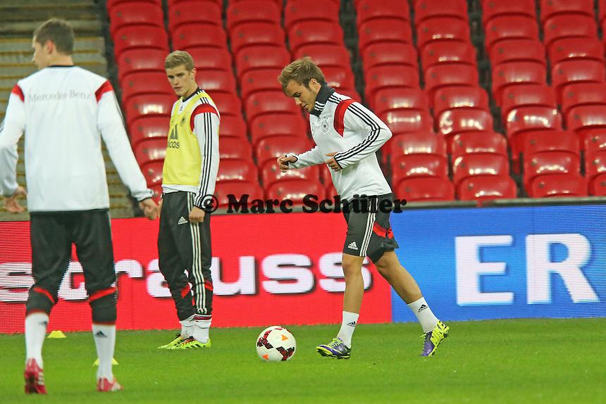 Mario Götze (D) - Abschlusstraining der Nationalmannschaft im Wembley Stadium