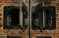 Ovens used to cremate people killed in the gas chambers at the Auschwitz Nazi concentration camp. It is estimated that between 1.1 and 1.5 million Jews, Poles, gypsies and others were killed here in the Holocaust between 1940-1945.