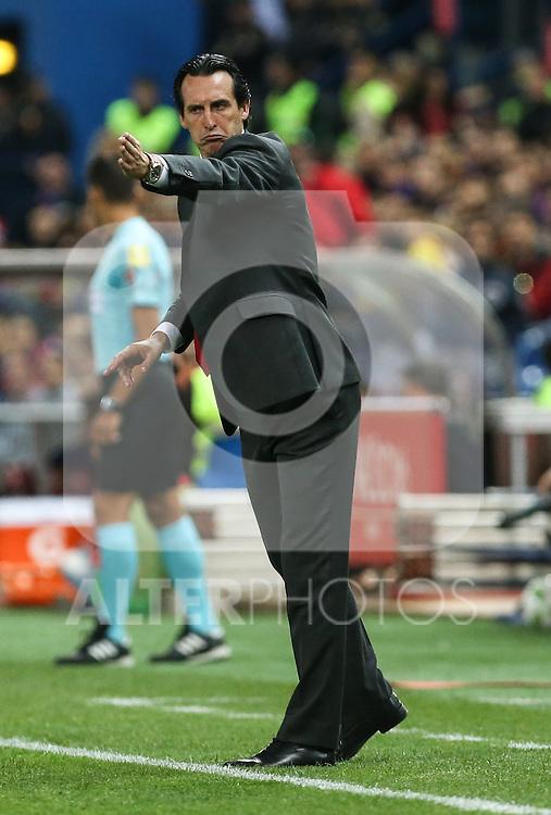Sevilla CF's  Unai Emery during Spanish Kings Cup Final match. May 22,2016. (ALTERPHOTOS/Rodrigo Jimenez)