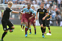 Sebastien Haller of West Ham United and John Stones of Manchester City during West Ham United vs Manchester City, Premier League Football at The London Stadium on 10th August 2019