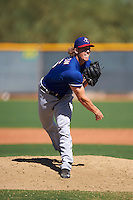 Texas Rangers pitcher Tyler Ferguson (86) during an Instructional League game against the Kansas City Royals on October 4, 2016 at the Surprise Stadium Complex in Surprise, Arizona.  (Mike Janes/Four Seam Images)