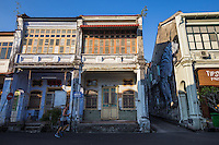 Shophouses are commonly seen in Southeast Asia, especially Penang, Malacca and Singapore. These shophouses or godowns are mostly two or three stories high with a shop on the ground floor for the store with a residence above the shop. This type of hybrid architecture characterises the historical centers of most towns and cities in the Southeast Asia region.  It is often called shophouse architecture, godown architecture, straits architecture or peranakan architecture.