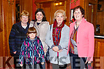 Enjoying the Presentation Secondary Castleisland School's 90th celebrations at River Island Hotel on Friday were Betty O'Rourke, Caroline Walsh, Sarah Walsh, Sheila O'Connell and Carmel Sheehan