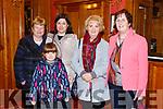 Enjoying the Presentation Secondary Castleisland School's 90th celebrations at River Island Hotel on Friday were Betty O'Rourke, Caroline Walsh, Sarah Walsh, Sheila O'Connell and Carmel Sheehan