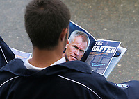 A Youth Team Player at Wycombe Wanderers reads the Manager's comments in the matchday programme during Wycombe Wanderers vs Southend United, Friendly Match Football at Adams Park on 2nd August 2008