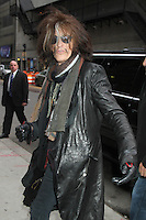 NEW YORK, NY - NOVEMBER 1: Joe Perry of Aerosmith at The Ed Sullivan Theater for an appearance on Late Show with David Letterman in New York City. November 1, 2012. © RW/MediaPunch Inc.