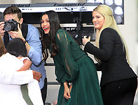 October 11, 2018  Meghan Trainor,Freida Pinto at Today Show Michelle Obama announces the Obama Foundation's Global Girls Alliance to Support Adolescent Girls Education Around the World on International Day of the Girl   at Rockefeller Center Plaza in New York October 11, 2018 Credit:RW/MediaPunch