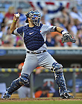 29 September 2012: Detroit Tigers catcher Alex Avila in action against the Minnesota Twins at Target Field in Minneapolis, MN. The Tigers defeated the Twins 6-4 in the second game of their 3-game series. Mandatory Credit: Ed Wolfstein Photo