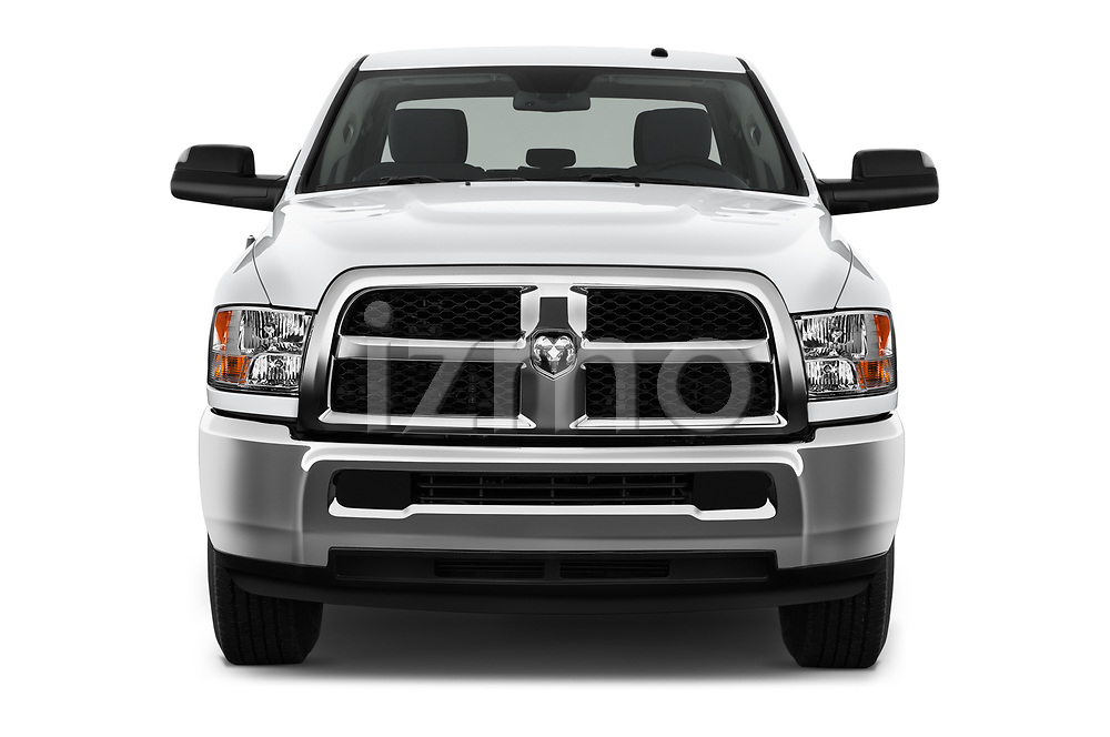 Car photography straight front view of a 2017 Ram Ram 2500 Pickup Tradesman 4wd Crew Cab LWB 4 Door Pick Up
