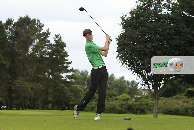 Matthew Fitzsimons (Ardglass) on the 15th tee during R2 of the 2016 Connacht U18 Boys Open, played at Galway Golf Club, Galway, Galway, Ireland. 06/07/2016. <br /> Picture: Thos Caffrey | Golffile<br /> <br /> All photos usage must carry mandatory copyright credit   (&copy; Golffile | Thos Caffrey)